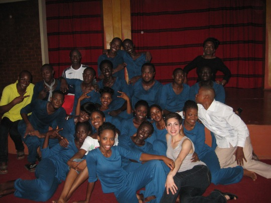 "Banjul students after ""Mystical Strings"""