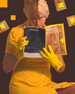 """The Reader"" , Digital Imaging, 2013"