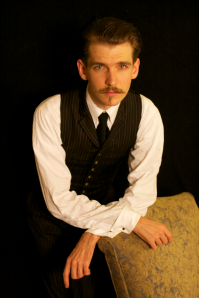 Kyle Duke Adamiec as Robert Louis Stevenson Gallas' short film *Death Is No Bad Friend*