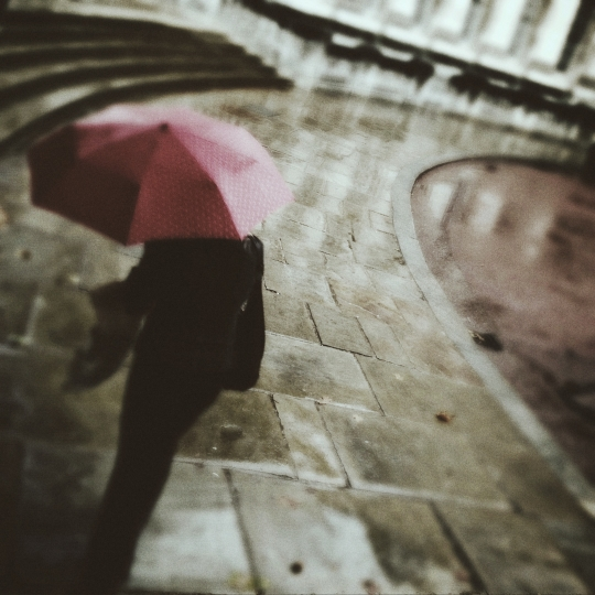 Another red umbrella