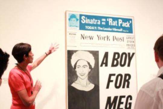"Andy Warhol, ""A boy for Meg,"" 1962 http://gloriajoh.wordpress.com/tour/"