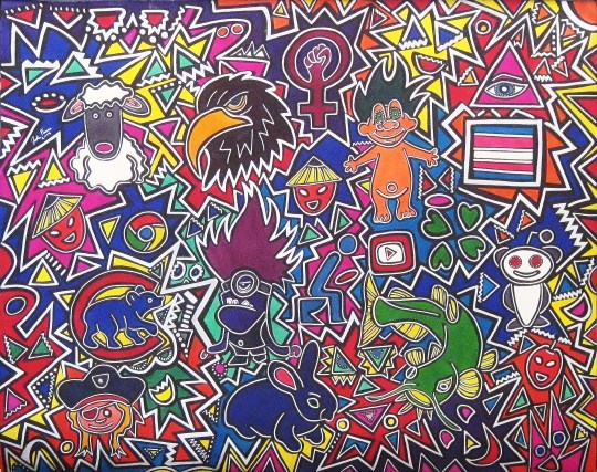 """Catfish Minions Sheeple and Trolls"" 28x22"