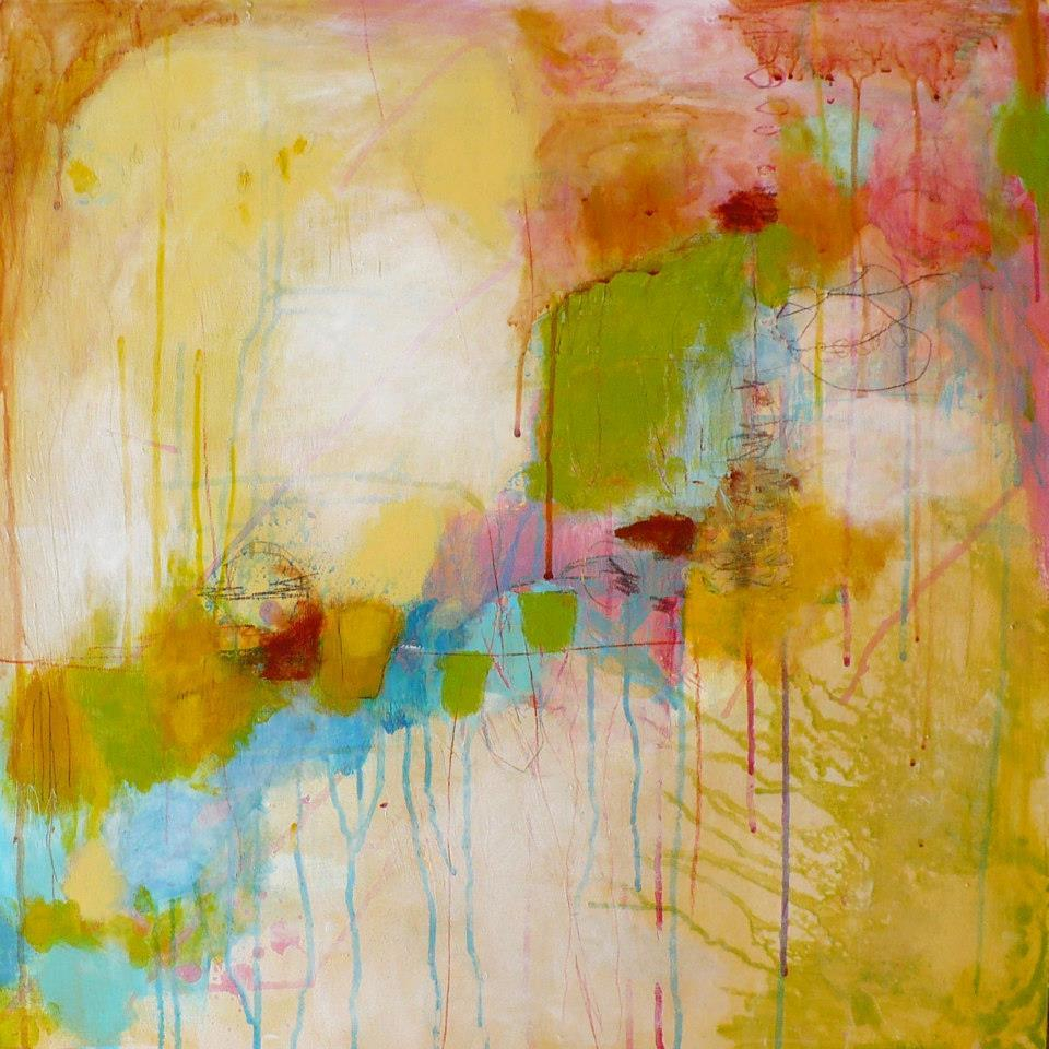 Vibrant and textured perception the abstract art of patti for Art and craft drawing and painting