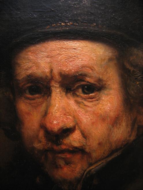 Rembrandt van Rijn - Self-Portrait (1659) detail http://commons.wikimedia.org/wiki/File:Rembrandt_van_Rijn_-_Self-Portrait_%281659%29_detail.jpg