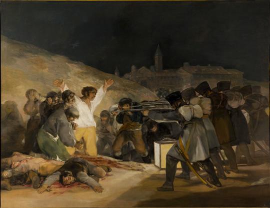 The Third of May 1808 Francisco Goya 1814 http://en.wikipedia.org/wiki/Francisco_Goya