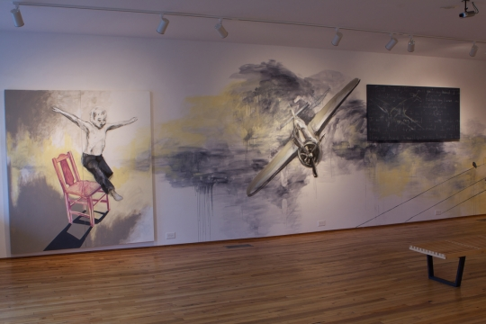Follow and Guide: Wall Drawing, Campus Gate Art Gallery, Young Harris, GA