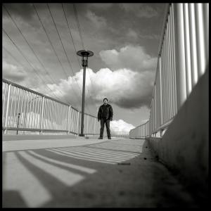Thomas Krueger-Self Portrait on Overpass