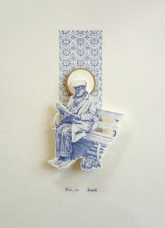 Bench biro miniature relief