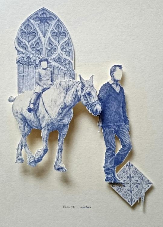 Antlers biro miniature relief