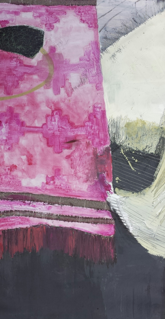 Pink Rug and Chair, 28 X 60