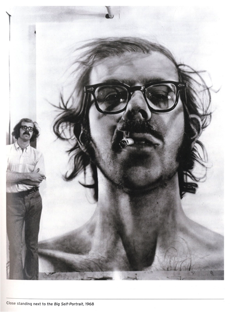 an analysis of robert an oil painting by chuck close Motivation and inspiration for aspiring  ponder words for artists, part 2 a close companion to our first  how to mix colors more accurately when oil painting.