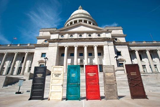 3-24-15 V.L. Cox Equality Doors Exhibit at the Arkansas State Capitol.