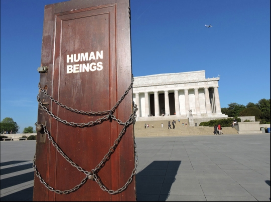 V.L. Cox-End Hate series-doors-Lincolnmemorial2