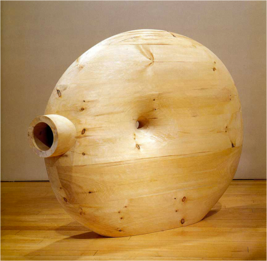 "Martin Puryear, Deadeye, detail, 2002, Pine, 58-¼ x 68-1/16 x 13-3/8"", Private collection, Image courtesy McKee Gallery, New York, Photo: Michael Korol, New York © 2007 Martin Puryear. http://arttattler.com/archivepuryear.html"