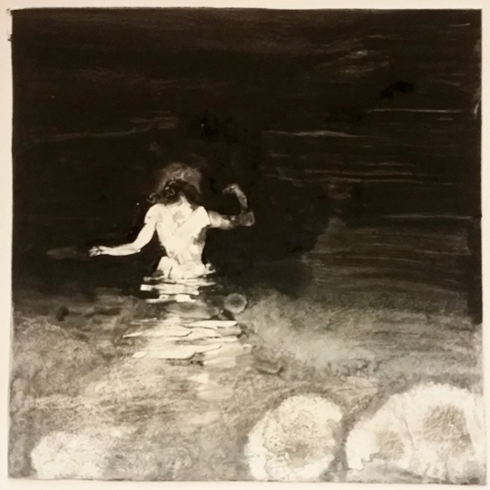 "Sleepwalk Redux 17, monotype, 12"" x 12"""