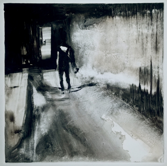 "Sleepwalk Redux 2, monotype, 12"" x 12"""
