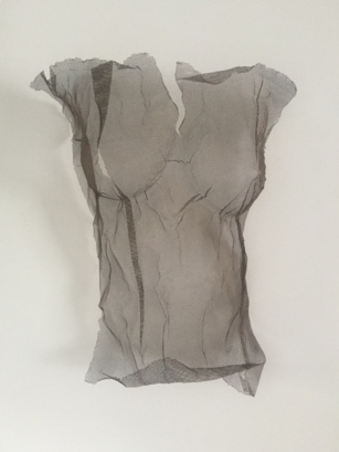 enlarged for featured photo Amy Oliver-Disjointed Fore - aluminium wire mesh