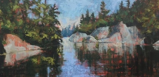 "Dark Water Cove / 24"" X 48"""